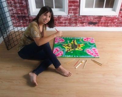 Sarah Michelle painting