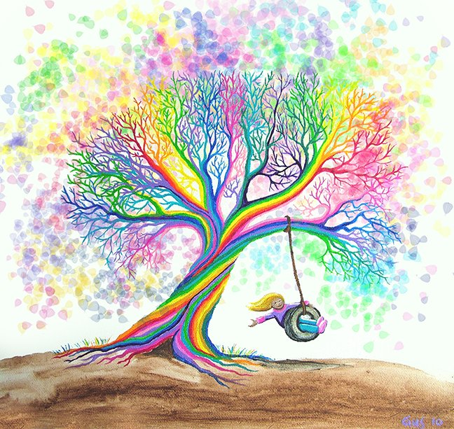 Nick Gustafson still more rainbow tree dreams