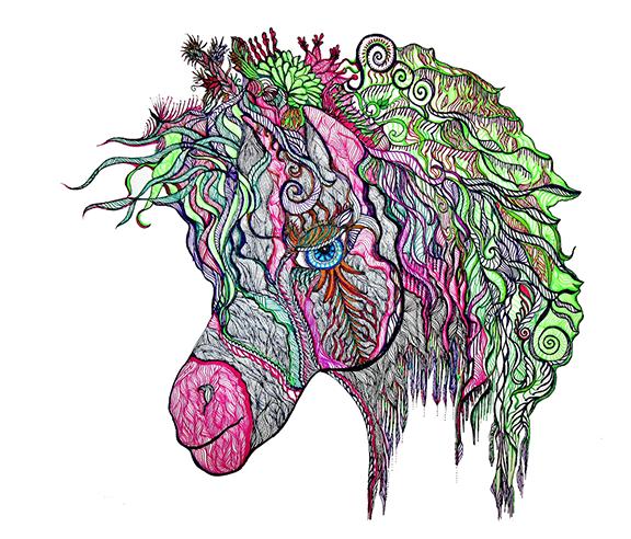 """Tinamarie Nelmes """"Hippi Pippi Horse"""""""
