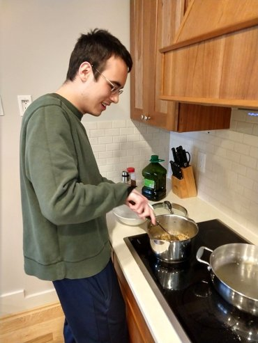 Malcolm at Home Cooking