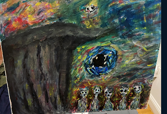 """Amanda Porche """"The Prophet Mourns for the Future of Humanity"""""""