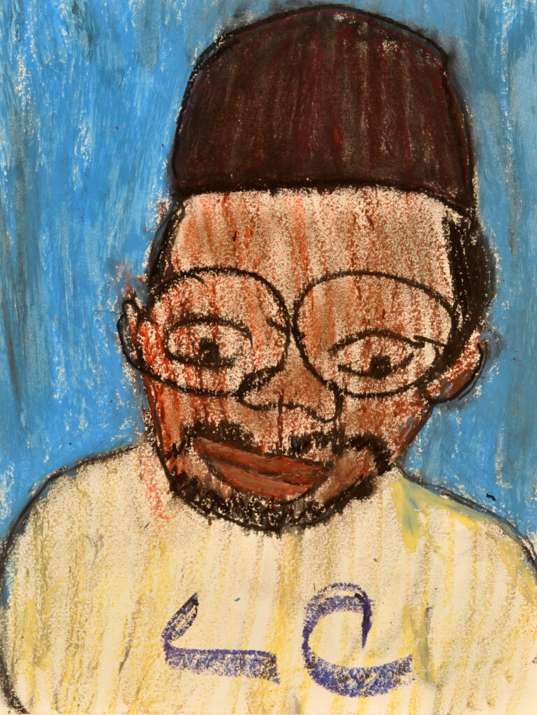 "Lois Curtis pastel artwork,""Mr. Hill."" Lois Curtis artwork, untitled. Photo Courtesy of Robin Rayne/ZUMA"