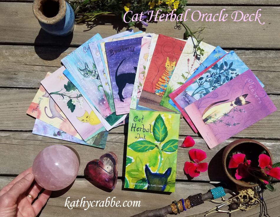 """Kathy Crabbe """"Cat Herbal Oracle Deck"""""""