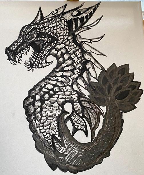 Sheryl Hanna Kumas Dragon Illustration