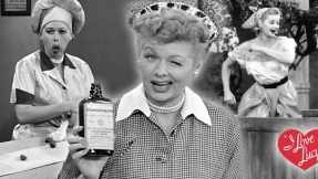 Lucille Ball in her most famous roles in the series, except the Freezer episode.