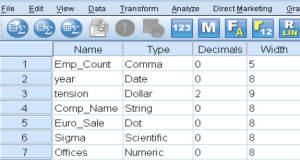 SPSS variable