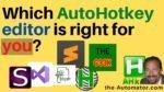 AutoHotkey editor