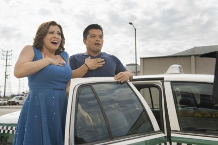 "Crazy Ex Girlfriend -- ""When Do I Get to Spend Time with Josh?"" -- Image Number: CEG209a_0208b.jpg -- Pictured (L-R): Rachel Bloom as Rebecca and Vincent Rodriguez III as Josh -- Photo: Colleen Hayes/The CW -- ©2016 The CW Network, LLC All Rights Reserved."