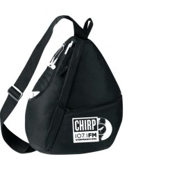teardrop backpack - chirp black and white