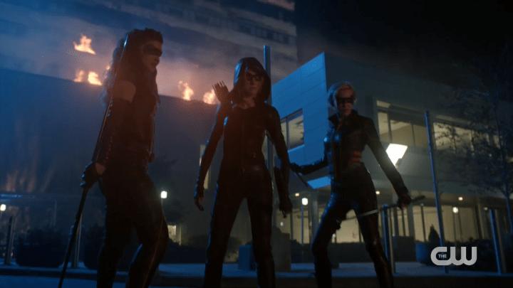 Arrow - Season 8, Episode 9 - Green Arrow & the Canaries - Group Shot