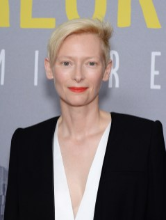 NEW YORK, NY - JULY 14: Actress Tilda Swinton attends the 'Trainwreck' premiere at Alice Tully Hall on July 14, 2015 in New York City. (Photo by Andrew Toth/FilmMagic)