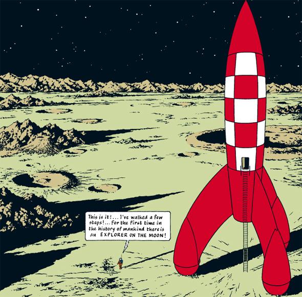 Tintin Moon 1