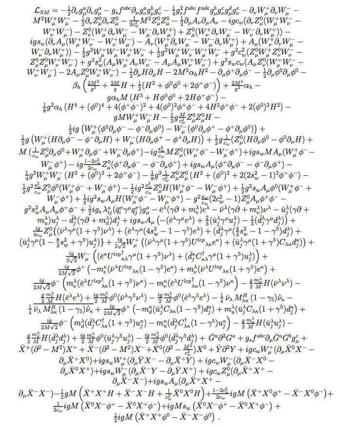 SM Lagrangian