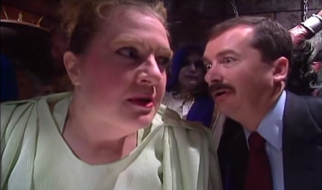 pearl forrester looks angry at a scared Mike Down, CPA