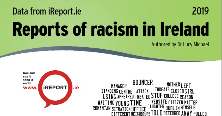 The cover of the INAR report on incidents of racism in Ireland in 2019.