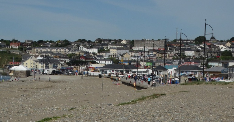 A photo of Tramore, Co. Waterford, where an anti-racism activist was assaulted on camera by anti-lockdown protestors.