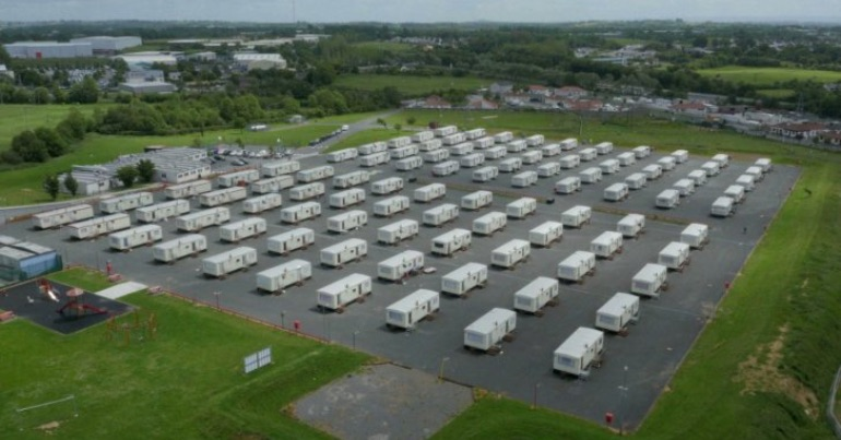A photo of a direct provision centre.