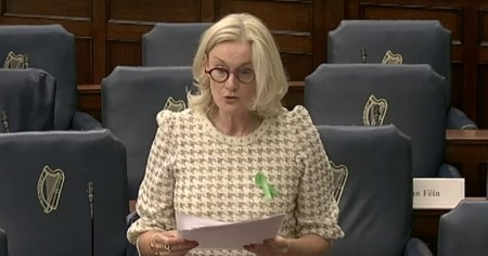 "Senator Sharon Keogan, who described a proposed new hate crime bill as ""poisonous identity politics""."