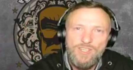 """A photo of Irish far-right activist Rowan Croft, aka Grand Torino, whose recent livestream in which he called for Irish politicians to be """"hung by the neck"""" was removed by Facebook."""