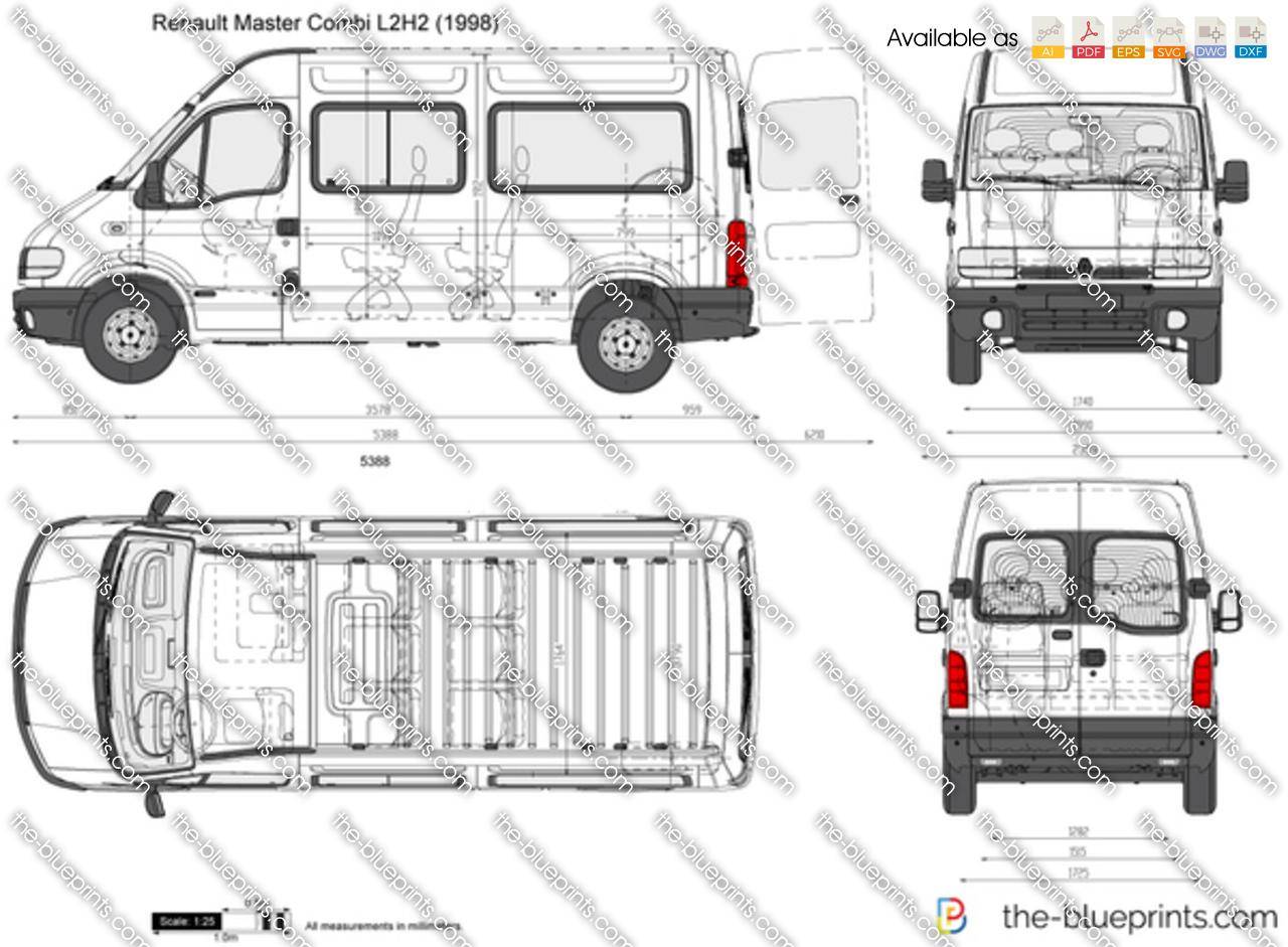 Renault Master Lwb Dimensions Sketch Coloring Page