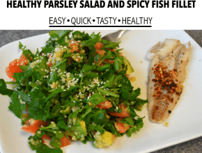 healthy-parsley-salad-spicy-fish-fillet-recipe