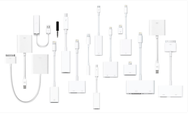Apple's newest laptops can connect to its own flagship smartphones without using a dongle, or purchasing a separate cable that doesn't otherwise ship with any of Apple' s hardware.