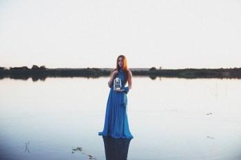 Тишина воды: стилизованная съемка