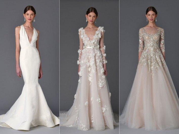 Коллекция свадебных платьев Marchesa весна 2017