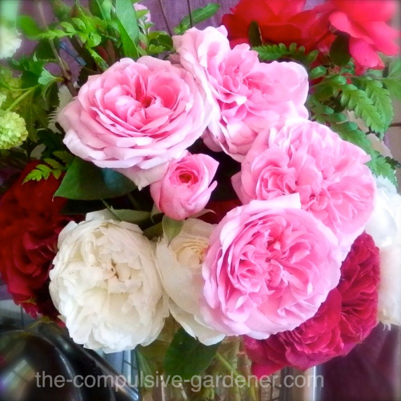 Heirloom rose bouquet