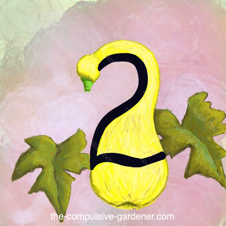 TWO -- digital number art by lisa at the-compulsive-gardener