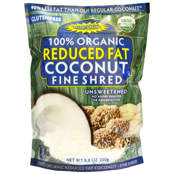 Edward and Sons 100% Organic Reduced Fat Coconut Fine Shred Unsweetened