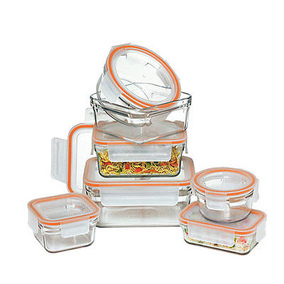 Glasslock Oven Safe Rimless Container Set 7pc