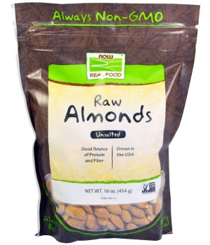 Now Foods, Real Food, Raw Almonds, Unsalted