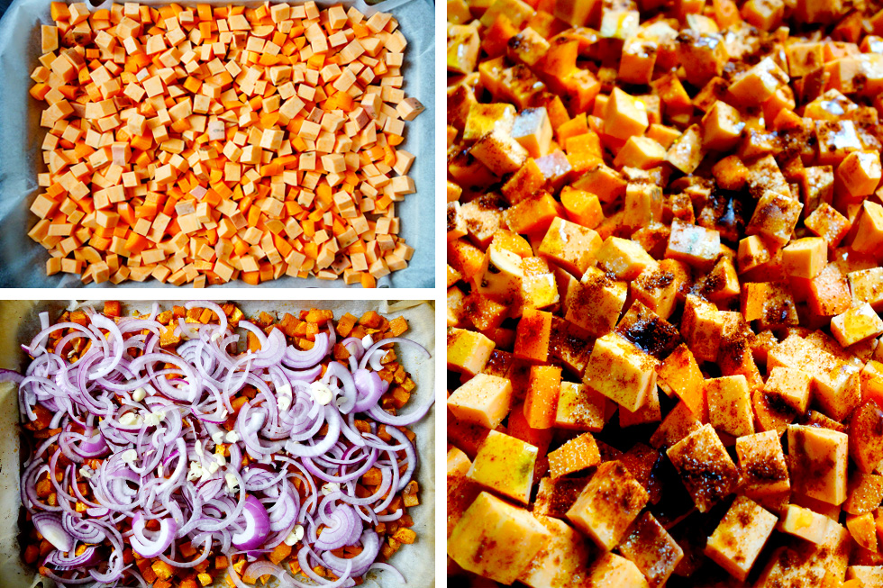 Anytime Sweet Potato, Carrot, Onion and Garlic Hash Steps