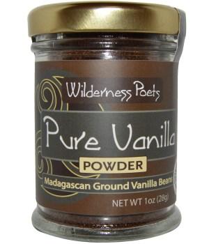 Wilderness Poets Pure Vanilla Powder Madagascan Ground Vanilla Beans