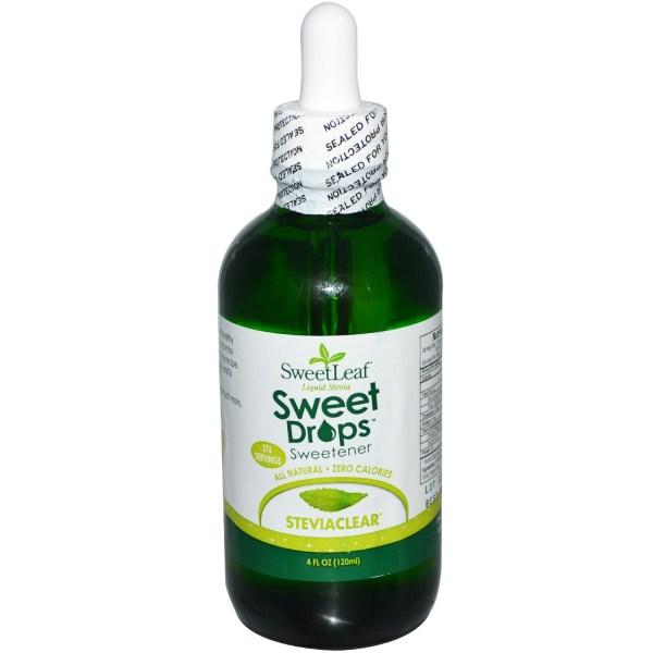 Wisdom Natural SweetLeaf Liquid Stevia Sweet Drops Sweetener