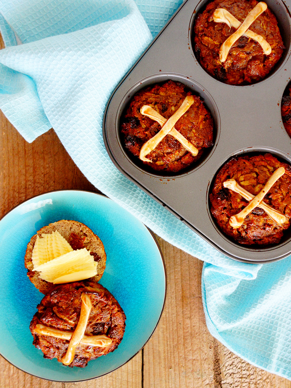 Easter Hot Cross Buns - Paleo, Gluten and Refined Sugar Free