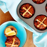Easter Hot Cross Buns - Paleo, Gluten Free, Refined Sugar Free