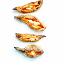 Simple Caramelised Sweet Potato Boats