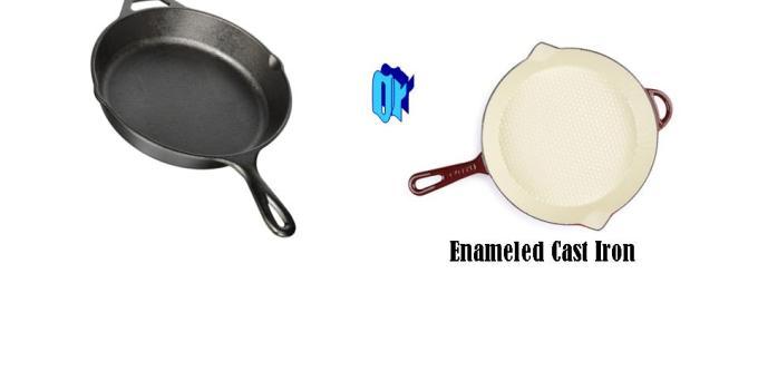 bare vs enemeled cast iron