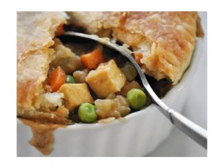 tofu pot pie - meatless dish