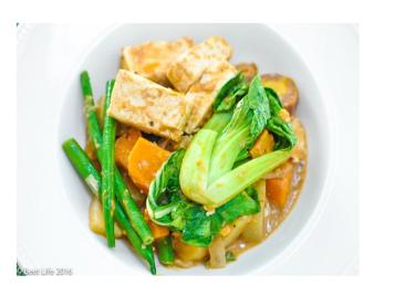 Vegetables in Peanut Butter Sauce