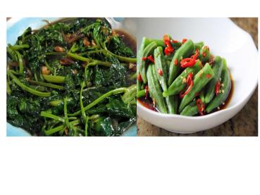 spinach and vegetables