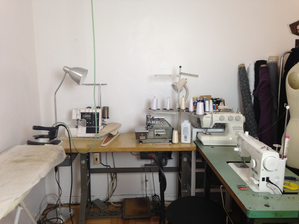 Toronto-based studio setup for Simone's Rose, an eco-conscious womenswear label. All clothing is made of deadstock, overstock or eco-friendly fabrics such as bamboo and organic cotton. | Read more on thecuriousbutton.wordpress.com