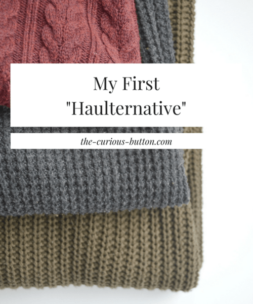 My First Fashion Revolution Haulternative | The Curious Button