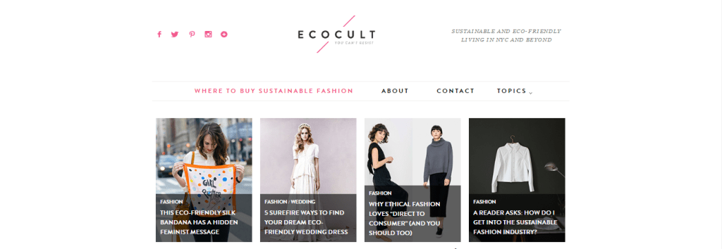 Top 10 Ethical Fashion Bloggers | The Curious Button | EcoCult