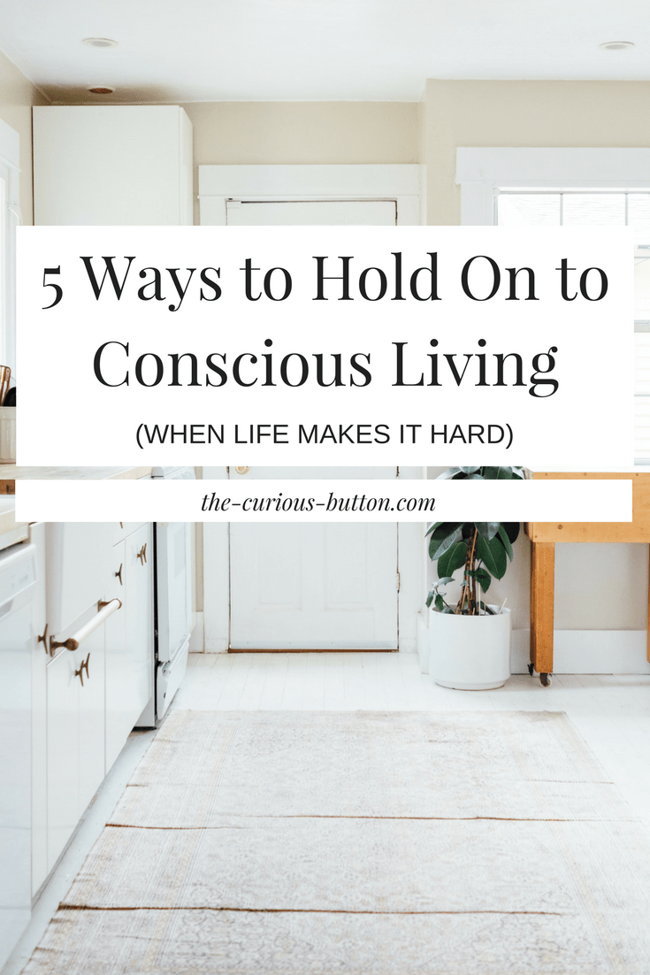 5 Ways to Hold On to Conscious Living (When Life Makes it Hard) | The Curious Button