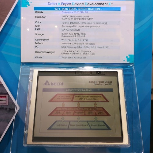 "Delta planning 32"" color epaper screen in 2012 e-Reading Hardware"