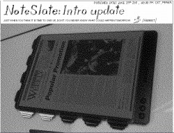 NoteSlate writing tablet delayed - it doesn't actually exist e-Reading Hardware