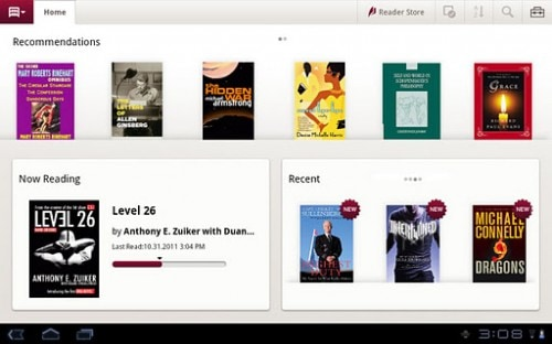 Sony Reader App Now Available for (Some) Android Tablets e-Reading Software